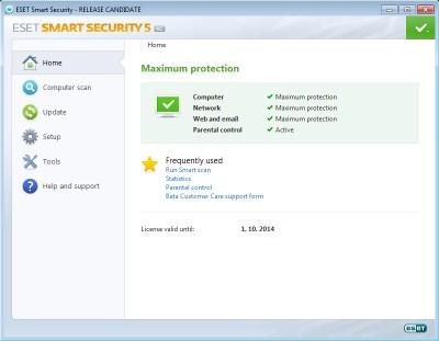 ESET Smart Security 5 en versión Beta RC