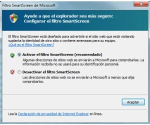 Filtro SmartScreen en Explorer