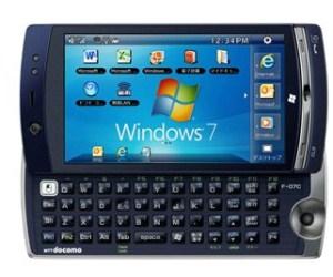 Fujitsu F-07C el primer smartphone con Windows 7