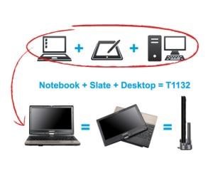 Equipo híbrido PC Tablet y portátil de Gigabyte