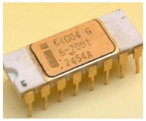 CPU Intel 4004 comercializada hace 40 años