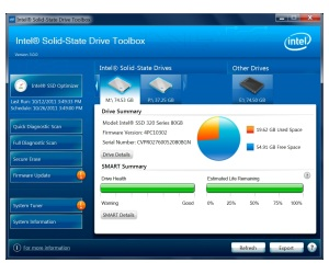 Software Intel SSD ToolBox 3.0