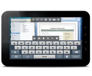 LogMeIn Ignition en Tablet Toshiba THRiVE