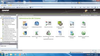 Turbo NAS permite gestionar los servicios del NAS