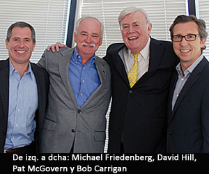 De izq. a dcha: Michael Friedenberg, David Hill, Pat McGovern y Bob Carrigan