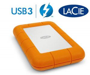 LaCie presenta el disco Rugged USB 3.0 Thunderbolt Series