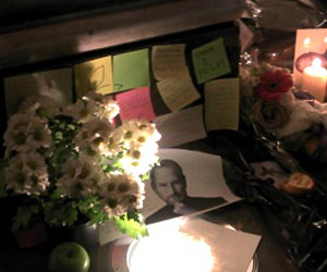 Steve Jobs altar luto