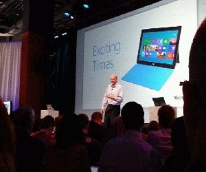 Momento de la presentación de Office 2013 el pasado mes de julio