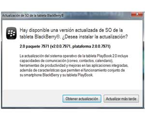 BlackBerry PlayBook 2.0 descarga