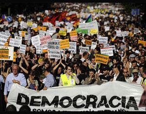 manifestacion indignados politicos twitter redes sociales
