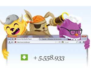 descargas Firefox tiempo real