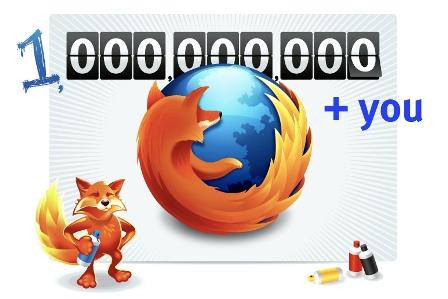 Firefox mil millones de descargas