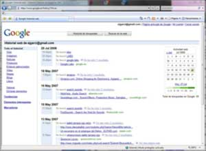 Historial Web de Google
