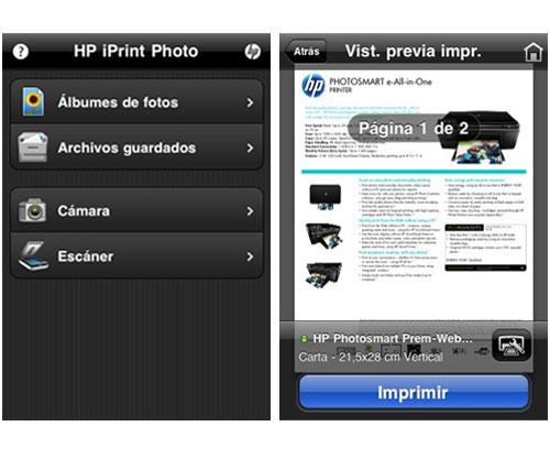 HP actualiza su aplicación ePrint Home & Biz para iOS