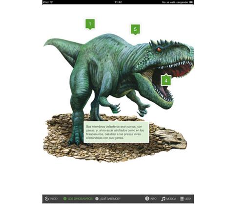 Dinosaurios y otros grandes reptiles iPad Santillana