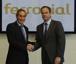 Julio Linares, consejero delegado de Telefónica, e Iñigo Meirás, consejero delegado de Ferrovial