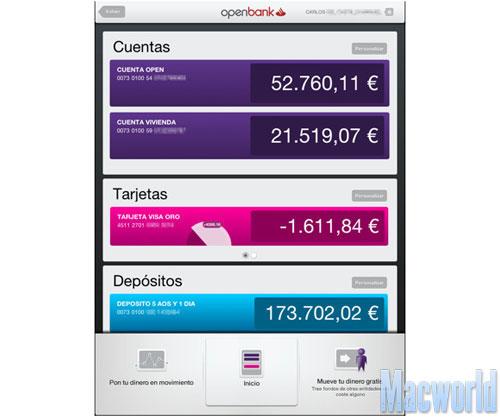 Openbank HD para iPad