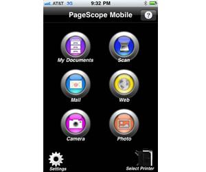 Impresión y escaneo directo desde iOS con PageScope Mobile