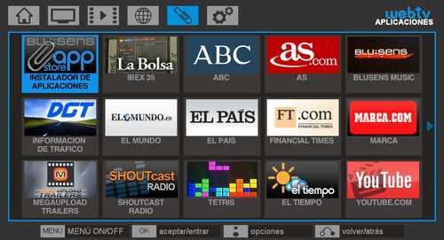Blusens actualiza el web:tv