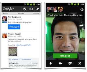 Quedadas Google+ en Android