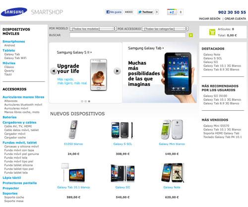 Samsung abre una tienda en línea al estilo Apple Online Store