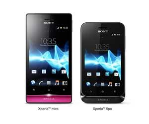 Sony Xperia Miro y Sony Xperia Tipo