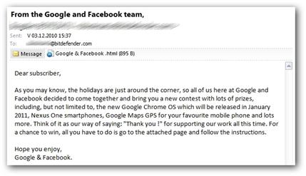 malware en mail google and facebook team