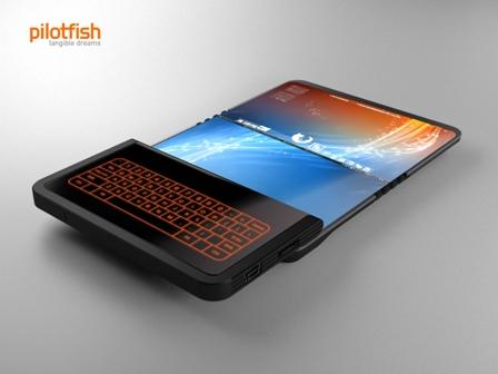 pantalla flexible teléfono móvil
