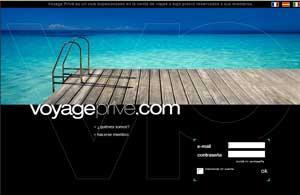 Sólo los usuarios miembros pueden acceder a esta web de viajes online