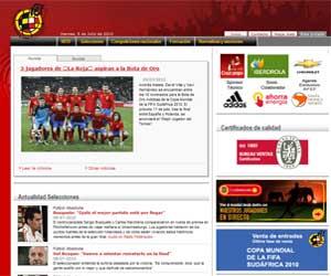 Página web de la Real Federación Española de Fútbol