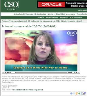 Arancha Asenjo, redactora de CSO, es la presentadora de los informativos de IDG TV.