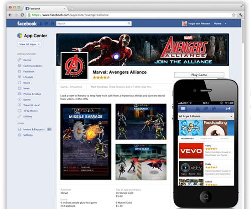 Facebook anuncia un Centro de Aplicaciones para todas las plataformas y dispositivos