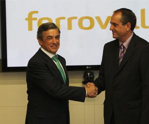 Federico Flórez, CIO Ferrovial, y José Antonio de Paz, presidente de HP Española