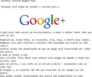 invitaciones falsas Google+