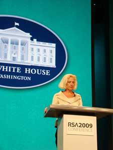 Melissa Hathaway, directora de ciberseguridad interina de los EE.UU., durante su intervención en la RSA