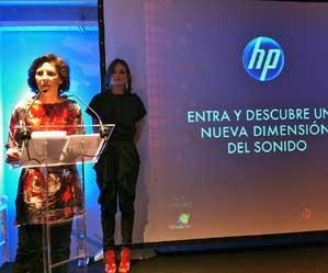 Helena Herrero y Laura Ponte en la presentación de los equipos HP con Beats Audio
