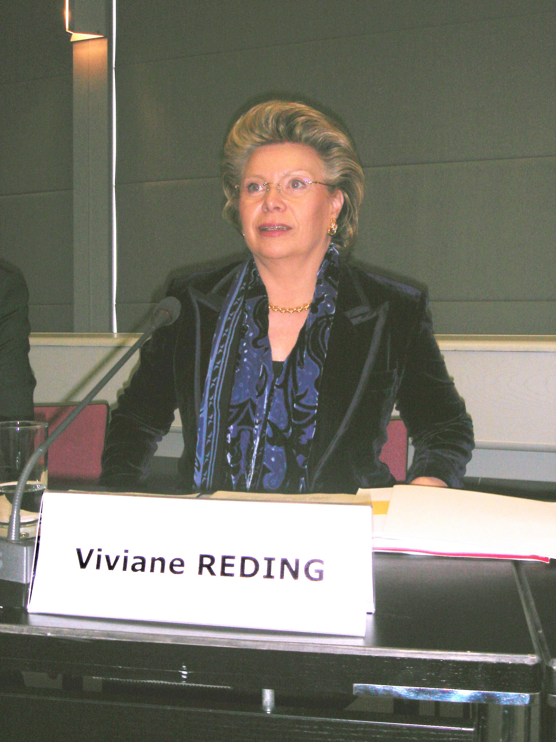 Viviane Reding, comisaria europea para la Sociedad de la Información