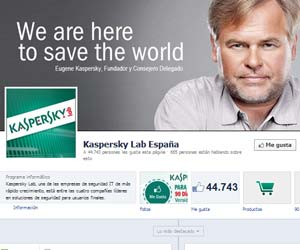Kaspersky Internet security facebook