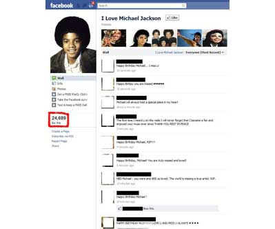 """I love Michael Jackson"" Facebook"