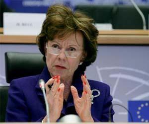 Neelie Kroes, vicepresidenta de la Comisión Europea