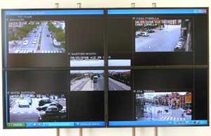 Panel de la sala de control, Guardia Urbana de Vic