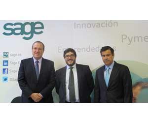 De izqda a dcha, Jesús Terciado, de CEPYME; Jesús Solanas, Sage; Manuel del Valle, Ministerio de Industria, Energia y Turismo