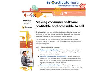 tech Data TD Activate-Here software licencias