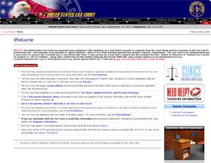 Página del US Tax Court, en el que se advierte del ataque de spear phising