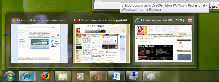 barra de tareas en windows 7