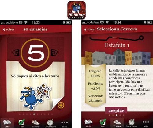 entrena para san fermín con la app bullrunning trainer para iphone y ipod touch