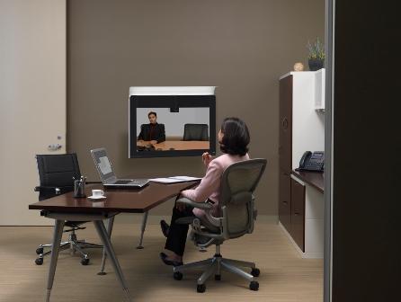 cisco, telepresencia, reunión, pc world