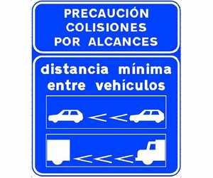 señal distancia de seguridad