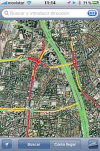 trafico tiempo real google maps