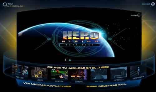 hero rising tiene 7 minijuegos de habilidad